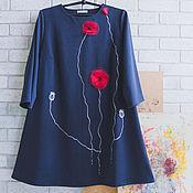 Одежда handmade. Livemaster - original item dark blue dress Maki Lite. Handmade.