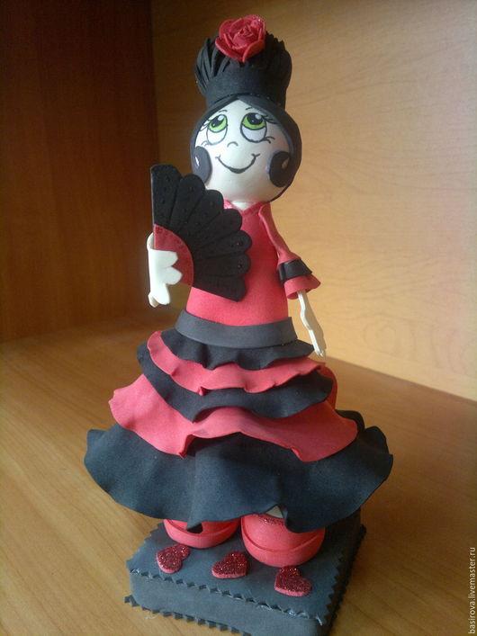Человечки ручной работы. Ярмарка Мастеров - ручная работа. Купить Куклы из фоамирана Танцовщицы. Handmade. Ярко-красный, танец, фламенко