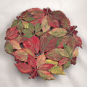 Посуда handmade. Livemaster - original item Carved dish of Wild grapes in autumn. Handmade.