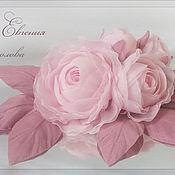 Украшения ручной работы. Ярмарка Мастеров - ручная работа Цветы на платье Розовые розы. Handmade.