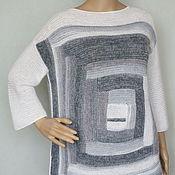 """Одежда ручной работы. Ярмарка Мастеров - ручная работа Пуловер пэчворк  """"Не чёрный квадрат"""". Handmade."""