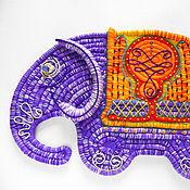 """Картины и панно ручной работы. Ярмарка Мастеров - ручная работа Декоративное панно """"Слон"""". Handmade."""