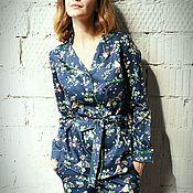 Костюмы ручной работы. Ярмарка Мастеров - ручная работа Пижамный костюм из сатина. Handmade.