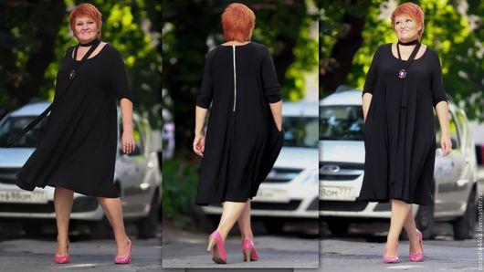 Большие размеры ручной работы. Ярмарка Мастеров - ручная работа. Купить Черное платье. Handmade. Черный, черное платье, большой размер