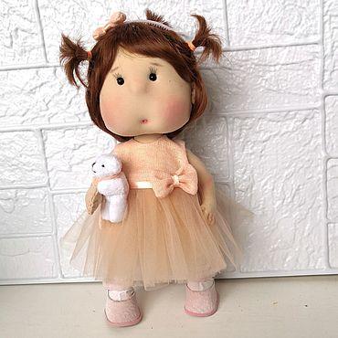 Куклы и игрушки ручной работы. Ярмарка Мастеров - ручная работа Текстильная интерьерная кукла Зефирка. Handmade.
