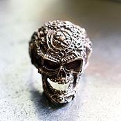Украшения ручной работы. Ярмарка Мастеров - ручная работа Кольцо «Mechanical Skull». Handmade.