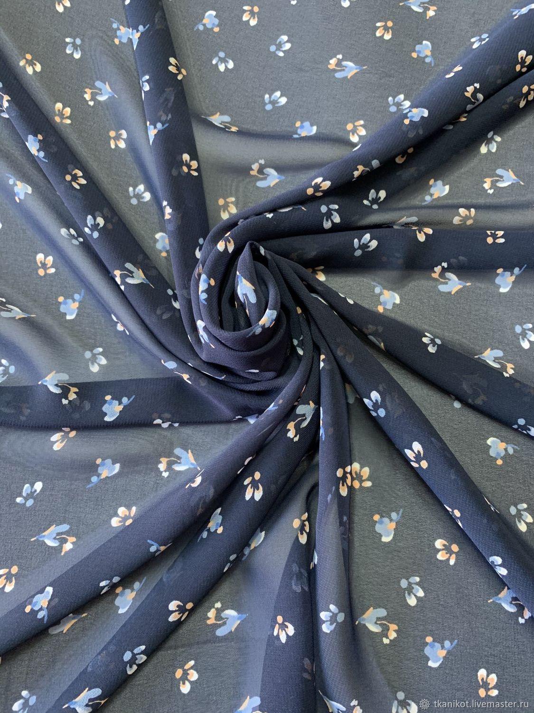 Шифон с цветочным принтом, Ткани, Москва,  Фото №1