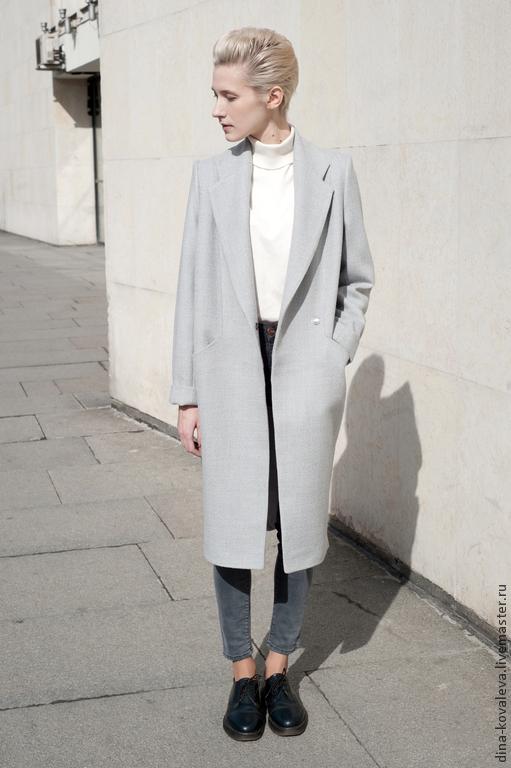 Верхняя одежда ручной работы. Ярмарка Мастеров - ручная работа. Купить Пальто светло-серое. Handmade. Серый, пальто женское