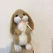 Куклы и игрушки ручной работы. Ярмарка Мастеров - ручная работа Валяная игрушка Зайчонок. Handmade.