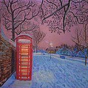 Картины и панно ручной работы. Ярмарка Мастеров - ручная работа Зимний вечер в Англии. Handmade.