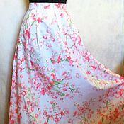 Одежда ручной работы. Ярмарка Мастеров - ручная работа Юбка длинная, летняя, с кружевом. Handmade.