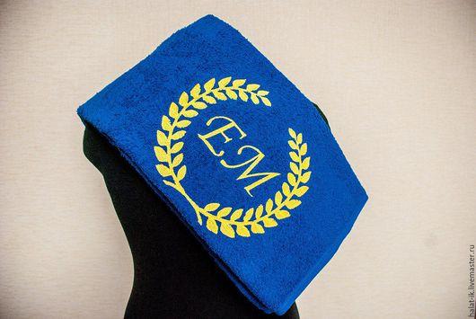 Подарок для близких на любой праздник! Махровое банное полотенце. Большой выбор цветов. Индивидуальный дизайн