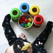Куклы и игрушки ручной работы. Ярмарка Мастеров - ручная работа Развивающая игрушка для самых маленьких. Сортировка предметов по цвету. Handmade.