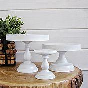 handmade. Livemaster - original item Copy of Copy of Copy of Wood Cake Stand 24 cm Cake platte. Handmade.
