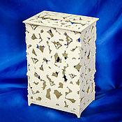 Свадебный салон ручной работы. Ярмарка Мастеров - ручная работа Шкатулка резная с бабочками. Handmade.
