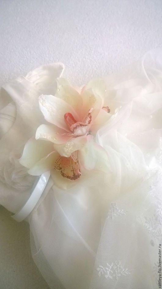 """Пояса, ремни ручной работы. Ярмарка Мастеров - ручная работа. Купить Пояс с орхидеями """"Cannes"""". Handmade. Белый, белая орхидея"""