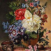 Картины ручной работы. Ярмарка Мастеров - ручная работа Картина маслом на холсте Цветы 24х30 см. Handmade.