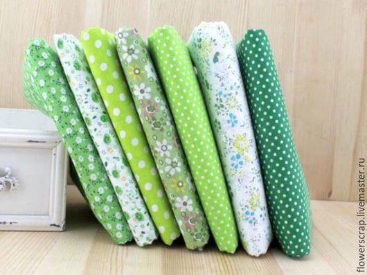 Шитье ручной работы. Ярмарка Мастеров - ручная работа. Купить Ткань зеленых оттенков 50-50 см, хлопок. Handmade.