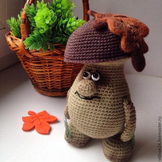 Игрушки животные, ручной работы. Ярмарка Мастеров - ручная работа. Купить Осенний гриб. Handmade. Коричневый, подарок, шерсть для валяния