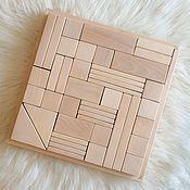Куклы и игрушки ручной работы. Ярмарка Мастеров - ручная работа Строительный набор из дерева. Handmade.