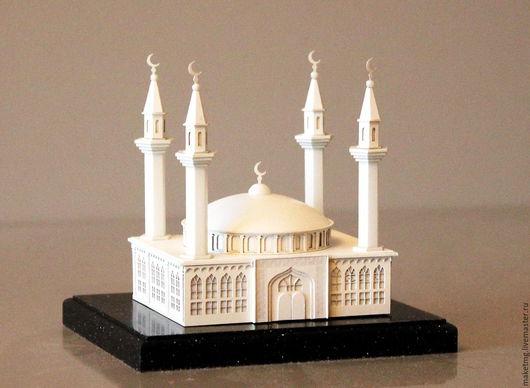 """Миниатюрные модели ручной работы. Ярмарка Мастеров - ручная работа. Купить Сувенир  """"Мечеть"""". Handmade. Сувенир для мусульманина, модель мечети"""