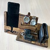 Подставки ручной работы. Ярмарка Мастеров - ручная работа Органайзер подставка для телефона. Handmade.