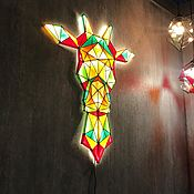 Светильники ручной работы. Ярмарка Мастеров - ручная работа Витражный настенный светильник Жираф. Handmade.