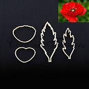 Материалы для творчества handmade. Livemaster - original item Cutter petals and leaves of the poppy, plastic. Handmade.