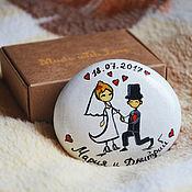 """Свадебный салон ручной работы. Ярмарка Мастеров - ручная работа """"Будь моей"""" камешек-магнит. Handmade."""