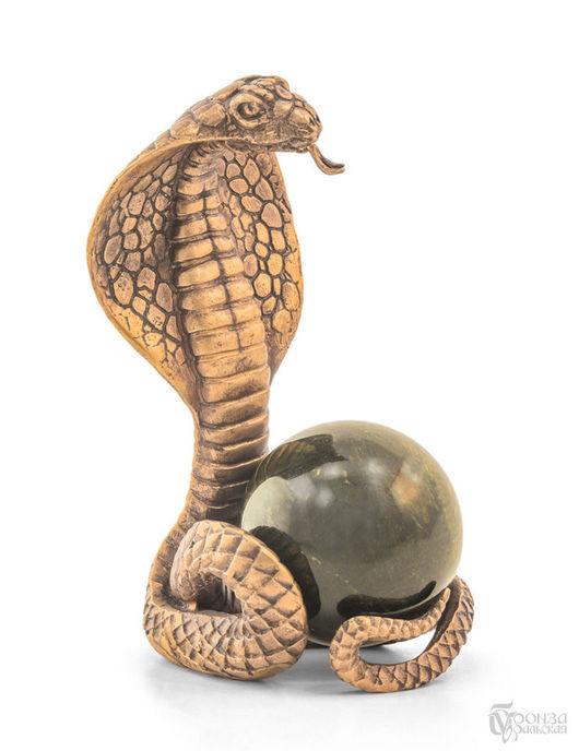 Статуэтки ручной работы. Ярмарка Мастеров - ручная работа. Купить Кобра. Handmade. Змея, символ, статуэтка, скульптура, скульптура из бронзы