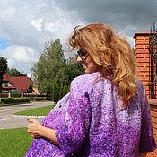 """Одежда ручной работы. Ярмарка Мастеров - ручная работа Жакет валяный """"Сиреневый каприз"""" - шерсть, войлок. Handmade."""