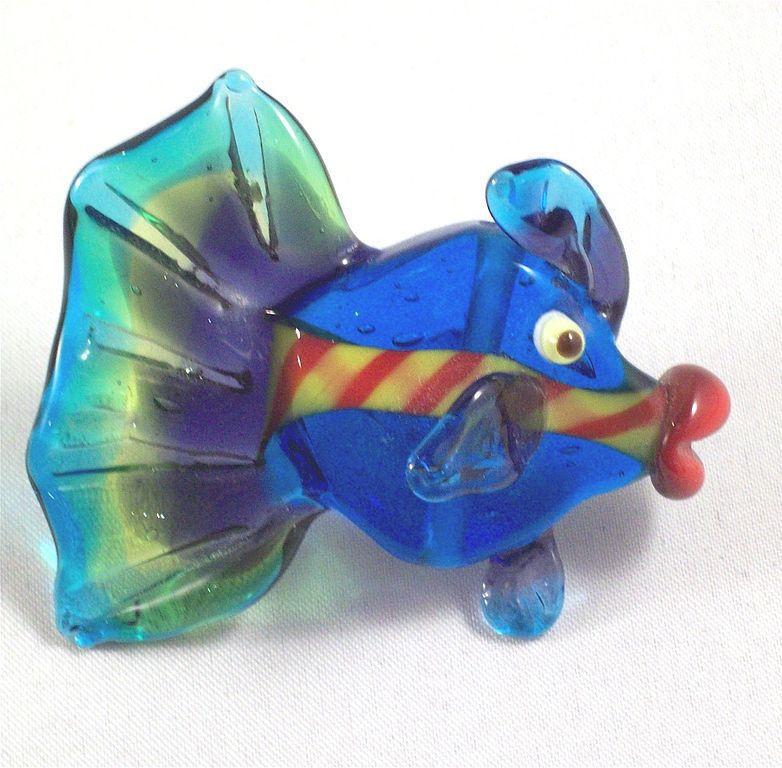 Подвеска-бусина Тропическая рыбка -1 бол. (авторский лампворк), Подвески, Москва,  Фото №1