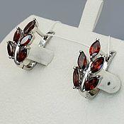 Украшения handmade. Livemaster - original item silver earrings with garnets. Handmade.