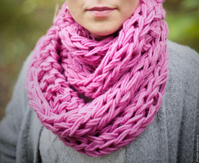 связать снуд шарф своими руками