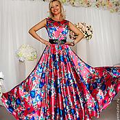 Одежда ручной работы. Ярмарка Мастеров - ручная работа Платье Синие розы-солнце. Handmade.