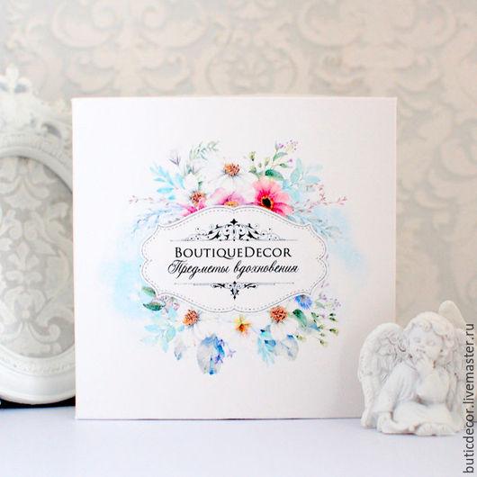 Упаковка ручной работы. Ярмарка Мастеров - ручная работа. Купить Коробка с цветами и с вашим текстом. Handmade. Коробочка, упаковка для подарка