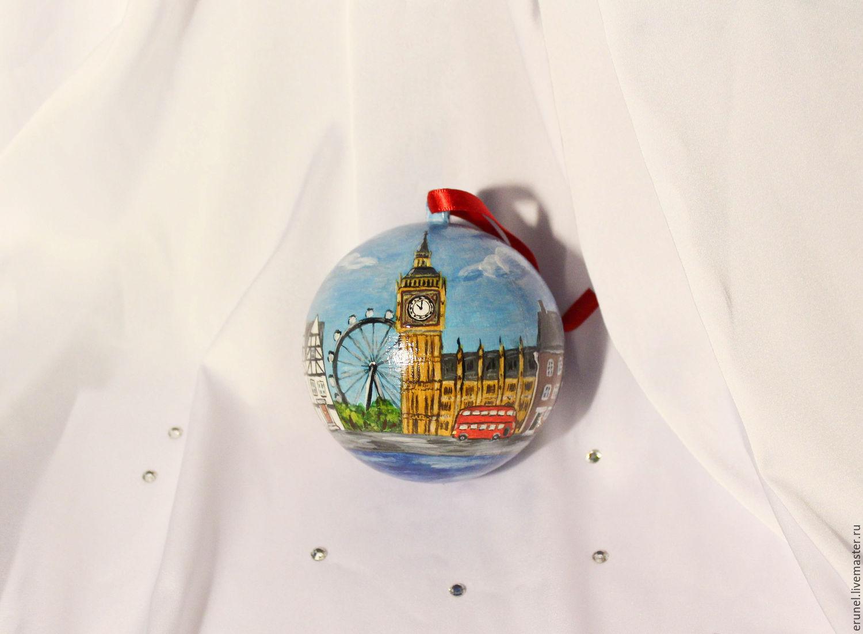 New Year 2019 handmade. Livemaster - handmade. Buy Christmas decoration 'London'.Hand made, great britain, christmas decoration