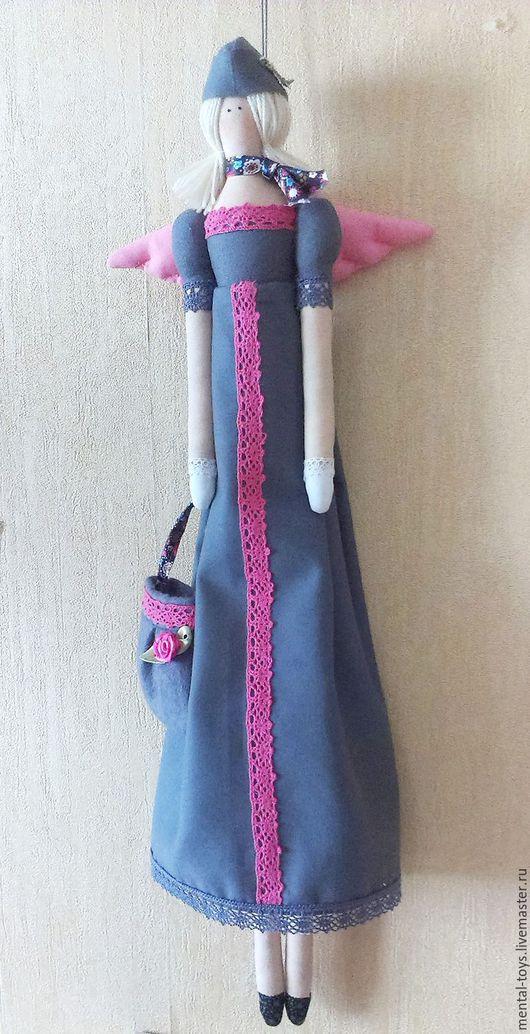 Портретные куклы ручной работы. Ярмарка Мастеров - ручная работа. Купить Тильда Стюардесса по фото. Handmade. Серый, хлопковое кружево