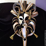 """Маски ручной работы. Ярмарка Мастеров - ручная работа Венецианская интерьерная маска """"Черное и белое"""". Handmade."""