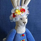"""Куклы и игрушки ручной работы. Ярмарка Мастеров - ручная работа Текстильная зайка""""1"""". Handmade."""