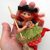 Куклы и игрушки handmade. Livemaster - original item Grandma ezhka. Witch. Adventures. Handmade.