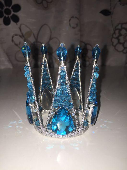 Детская бижутерия ручной работы. Ярмарка Мастеров - ручная работа. Купить Голубая корона снегурочка. Handmade. Снегурочка, подарок девушке