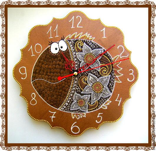 """Часы для дома ручной работы. Ярмарка Мастеров - ручная работа. Купить часы """"Рыбка Шоколадка"""". Handmade. Коричневый, часы для дома"""
