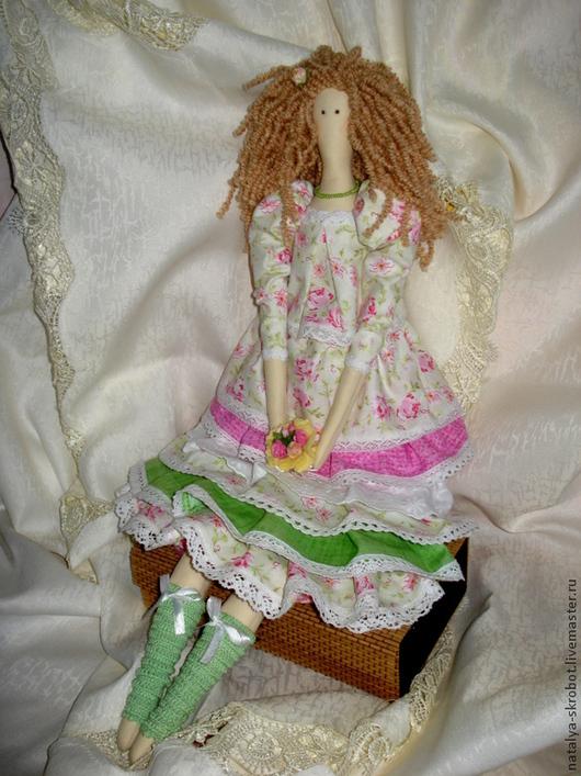 Куклы Тильды ручной работы. Ярмарка Мастеров - ручная работа. Купить Интерьерная кукла по мотивам Тильда. Handmade. Салатовый, buheirf