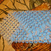 """Работы для детей, ручной работы. Ярмарка Мастеров - ручная работа Детский плед из помпонов """"голубые небеса"""". Handmade."""