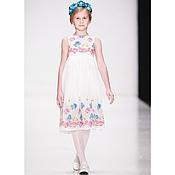 Работы для детей, handmade. Livemaster - original item White dress for girl. Handmade.