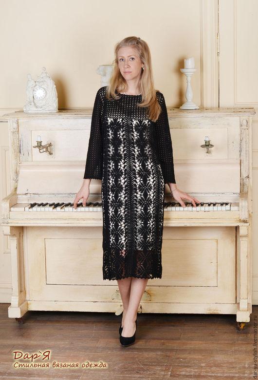 """Платья ручной работы. Ярмарка Мастеров - ручная работа. Купить """"Perle Noire""""  вязаное кружевное платье для торжественных случаев. Handmade."""