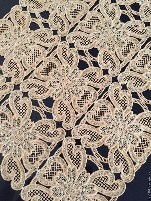 Текстиль, ковры ручной работы. Ярмарка Мастеров - ручная работа. Купить Салфетка кружевная. Handmade. Бежевый, украшение для дома