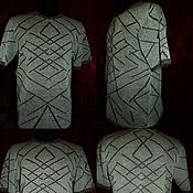 Одежда handmade. Livemaster - original item 100% linen Men`s jumper Kaleidoscope .. Handmade.