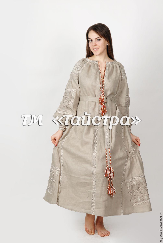 Платья из льна женские фото